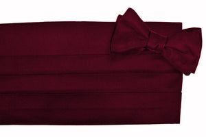 Burgundy Faille Cummerbund Set