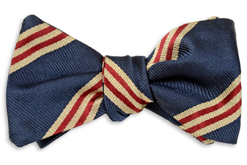 Cambridge Stripe Bow Tie