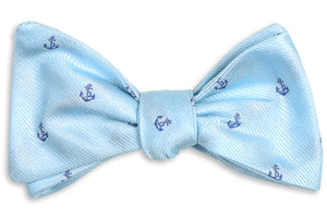 Cape Fear Anchor Bow Tie - Blue