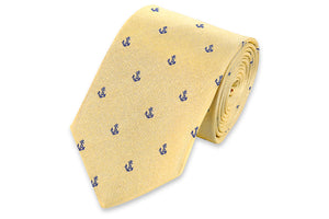 Cape Fear Anchor Necktie - Gold
