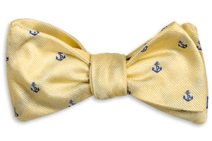 Cape Fear Anchor Bow Tie - Gold