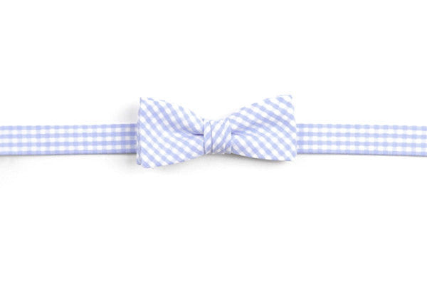Carolina Blue Gingham Boy's Bow