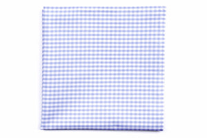 Carolina Blue Gingham Pocket Square