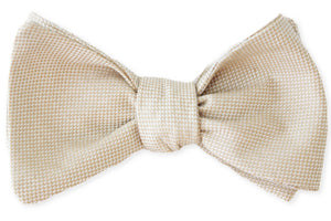 Champagne Royal Oxford Bow Tie