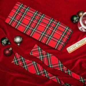 Cocoa and Mistletoe Cummerbund Set