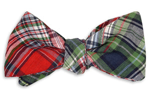 Christmas Patchwork Bow Tie
