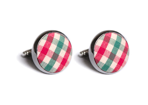 Christmas Tattersall Cufflinks