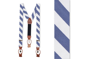 Classic Navy and White Stripe Braces