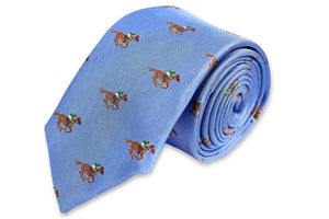 Cocky Jockey Necktie - Blue