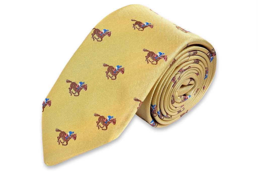 Cocky Jockey Necktie - Yellow