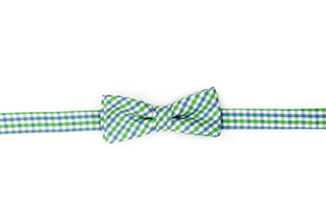 Cornflower and Mint Tattersall Boy's Bow