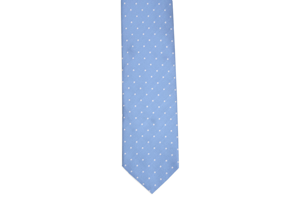 Cornflower Dot Necktie