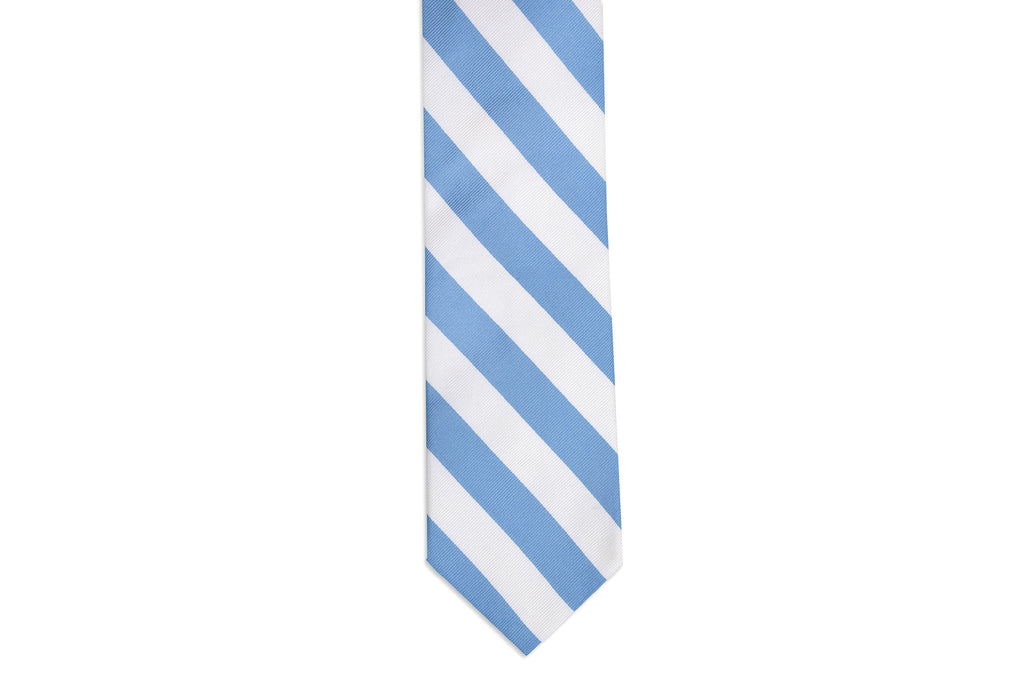 Cornflower and White Stripe Necktie