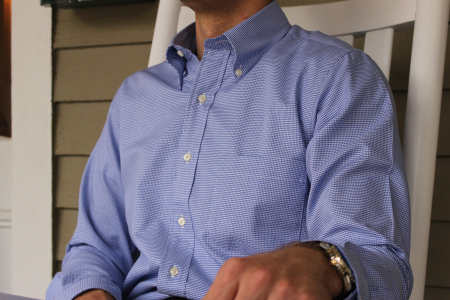 17bd68b7 Cotton Exchange Sport Shirt - Savannah Blue - High Cotton
