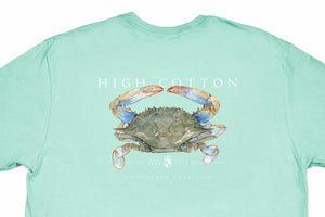 Blue Crab Pocket Tee - Sea Green