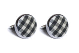 Black Gingham Cufflinks