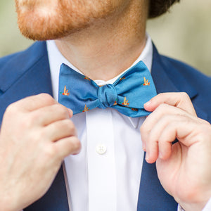 Mallard Bow Tie - Bright Blue