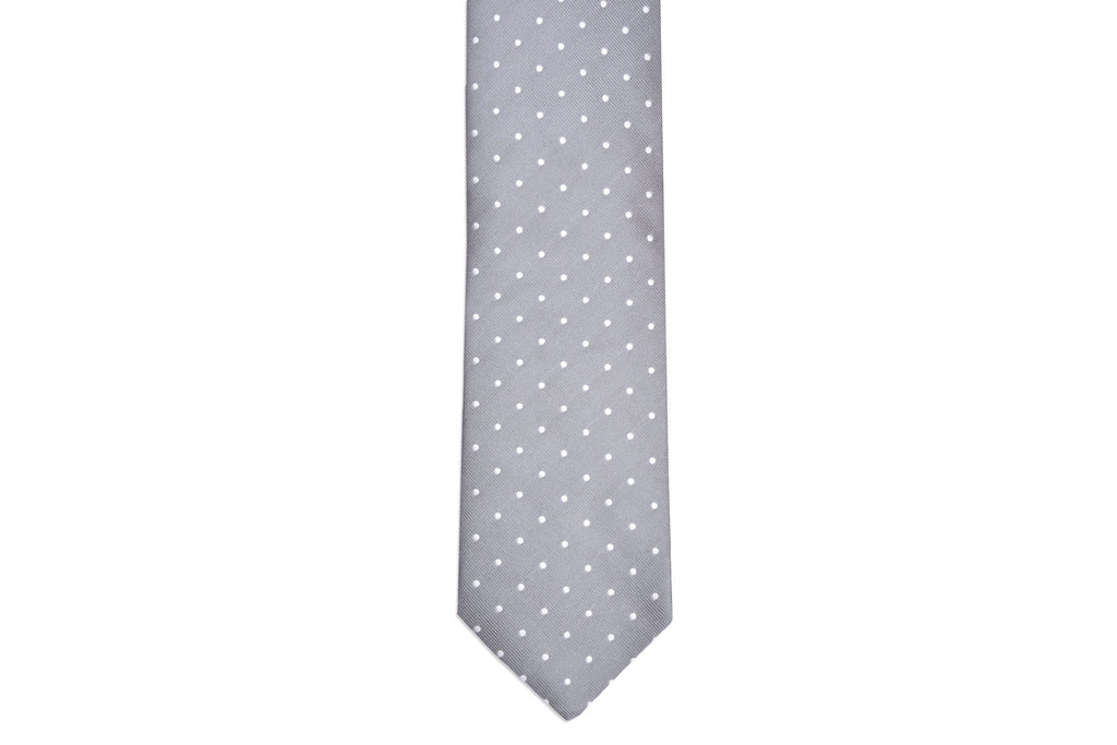 Dusty Gray Dot Necktie