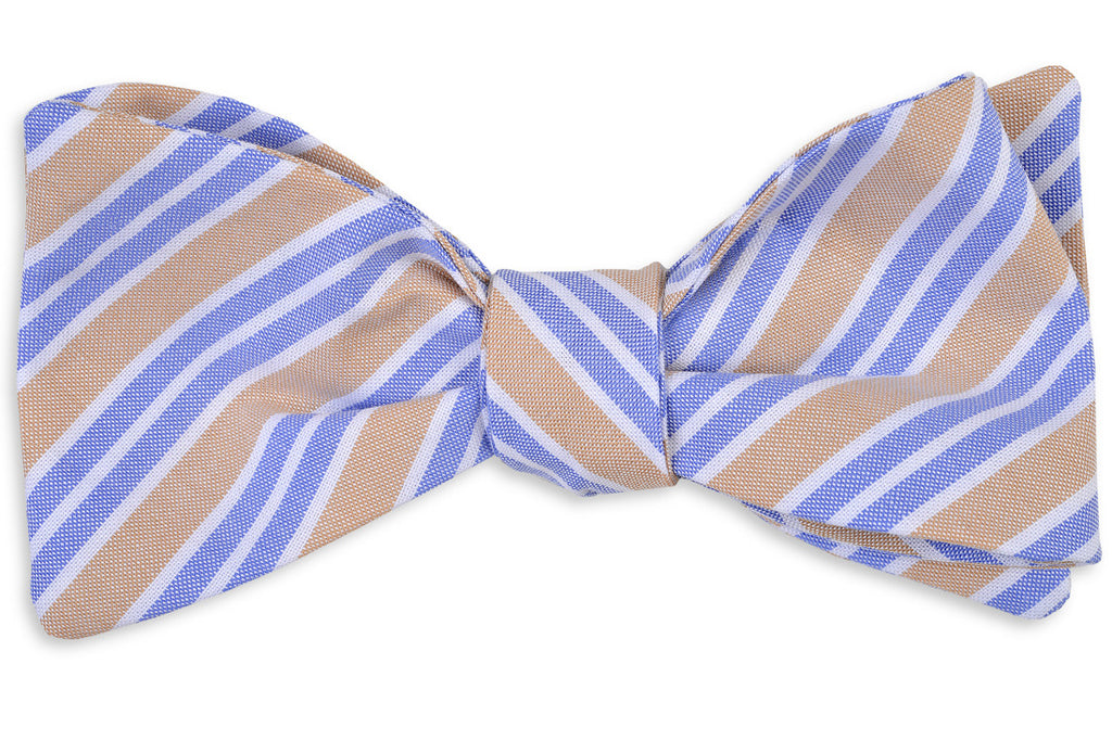 Front Porch Stripe Bow Tie - Honeysuckle