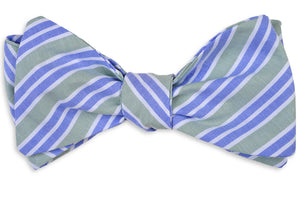 Front Porch Stripe Bow Tie - Willow