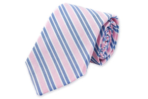 Front Porch Stripe Necktie - Carnation
