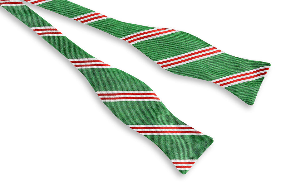 Holly Stripe Bow Tie