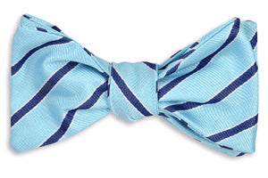 Julep Stripe Bow Tie - Ice Blue