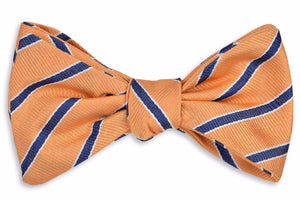 Julep Stripe Bow Tie - Orange Peel