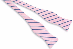 Julep Stripe Bow Tie - Rose
