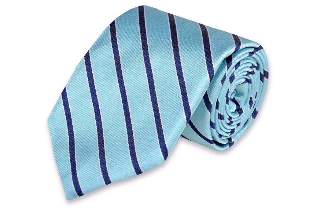 Julep Stripe Necktie - Ice Blue