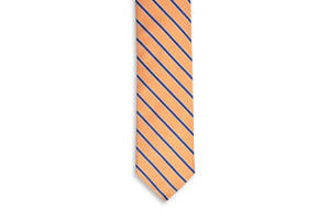Julep Stripe Necktie - Orange Peel