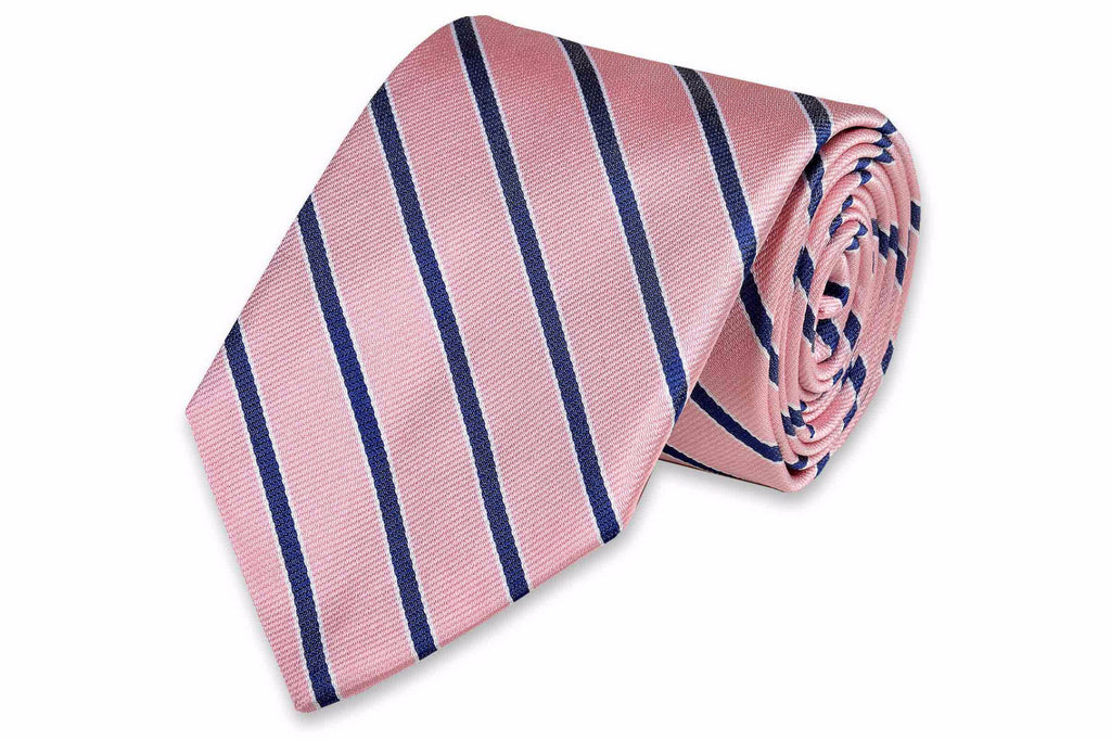 Julep Stripe Necktie - Rose