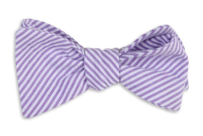 55acc912799a Southern Seersucker Stripe Bow Tie - Lavender - High Cotton