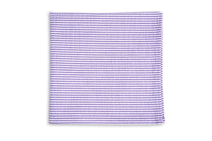 Southern Seersucker Stripe Pocket Square - Lavender