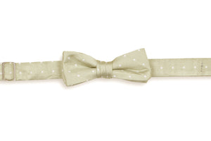 Light Champagne Dot Boy's Bow Tie
