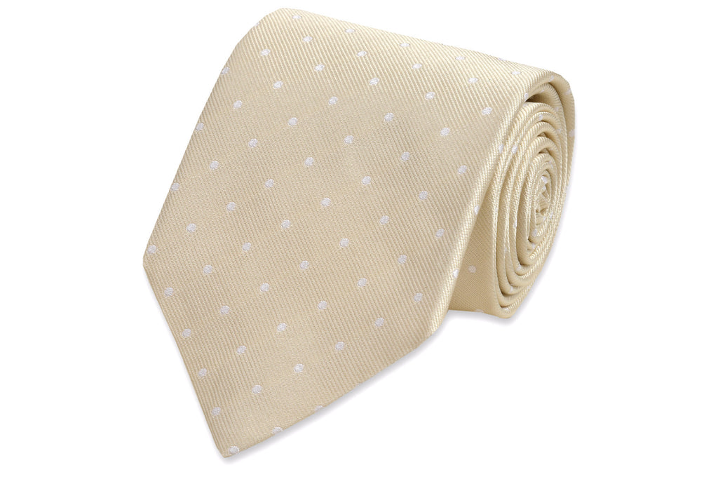 Light Champagne Dot Necktie
