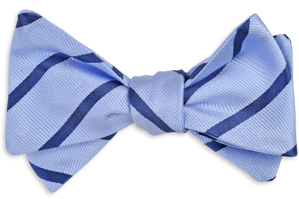 Seaside Stripe Bow Tie - Blue