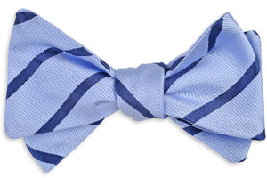 Magnolia Stripe Bow Tie - Blue