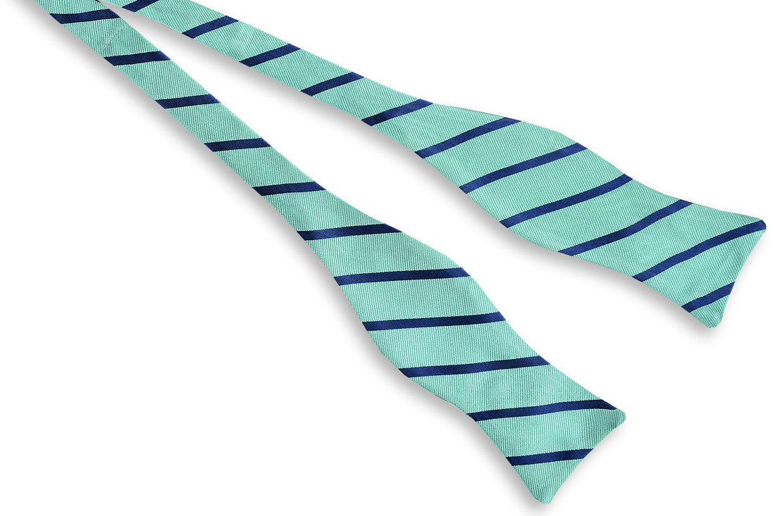 Magnolia Stripe Bow Tie - Green