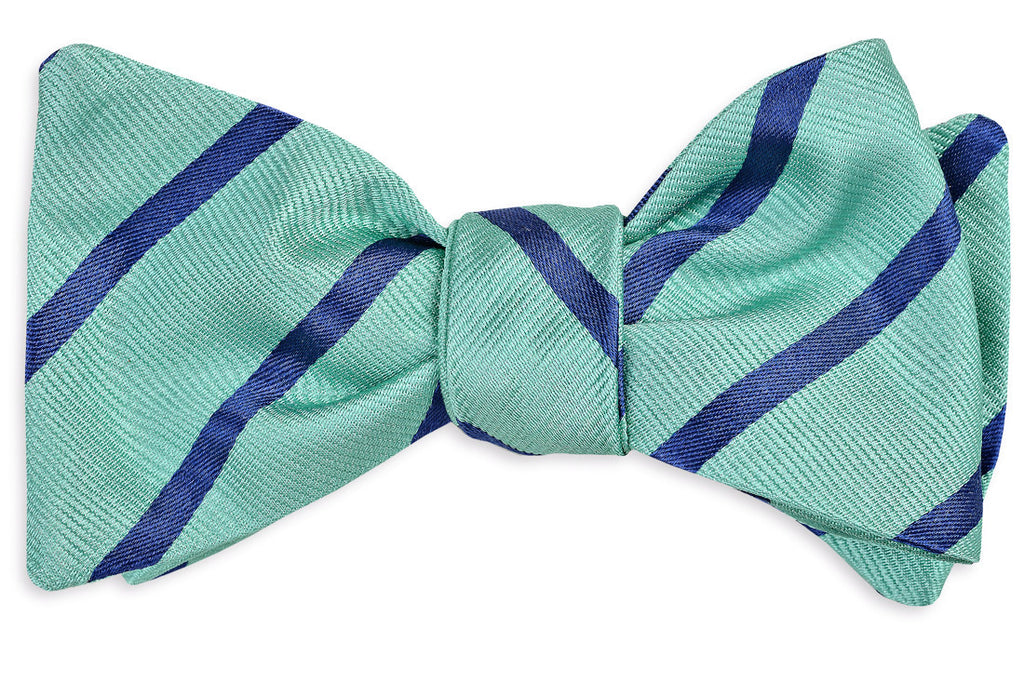 Seaside Stripe Bow Tie - Sea glass