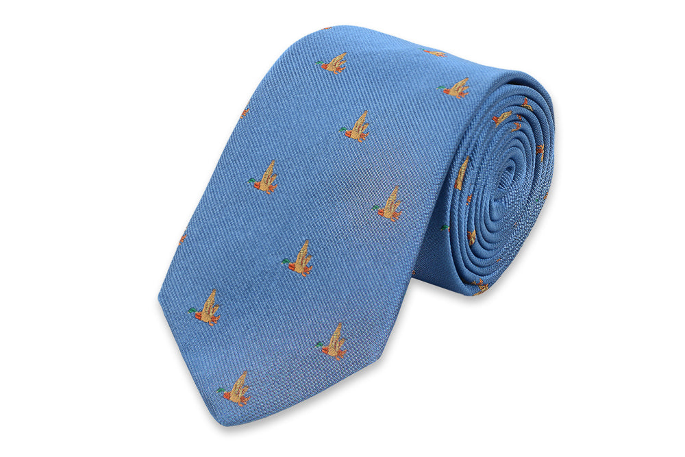 Mallard Necktie - Bright Blue