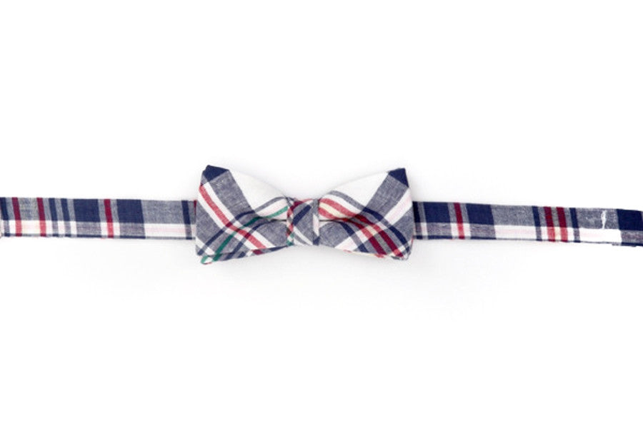 Mayberry Madras Boy's Bow