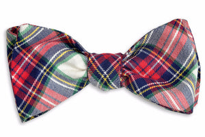 Peppermint Plaid Bow Tie