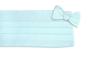 Southern Seersucker Stripe Mint Cummerbund Set