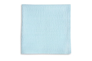 Southern Seersucker Stripe Pocket Square - Mint