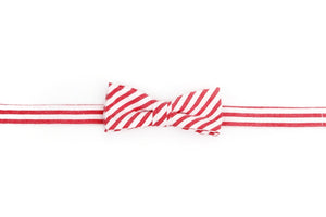 Nantucket Seersucker Stripe Boy's Bow