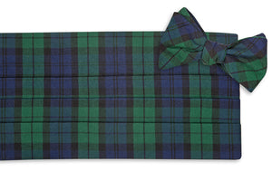 Black Watch Tartan Cummerbund Set