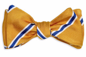 Noble Stripe Bow Tie - Gold
