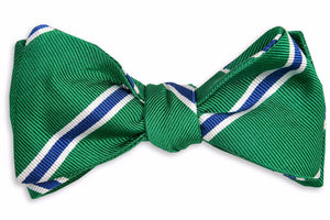 Noble Stripe Bow Tie - Green