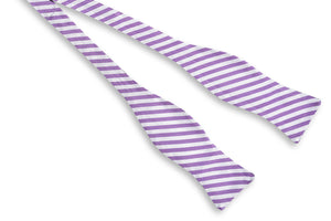 Oyster Roast Stripe Bow Tie - Haze